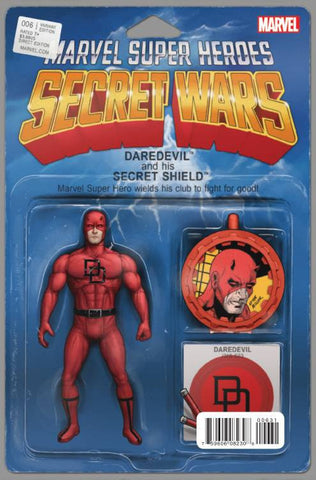 Secret Wars #6 Action Figure Variant Cover