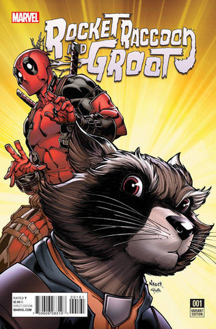 ROCKET RACCOON AND GROOT #1 NAUCK DEADPOOL VARIANT