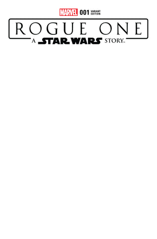 STAR WARS ROGUE ONE ADAPTATION #1 BLANK VARIANT