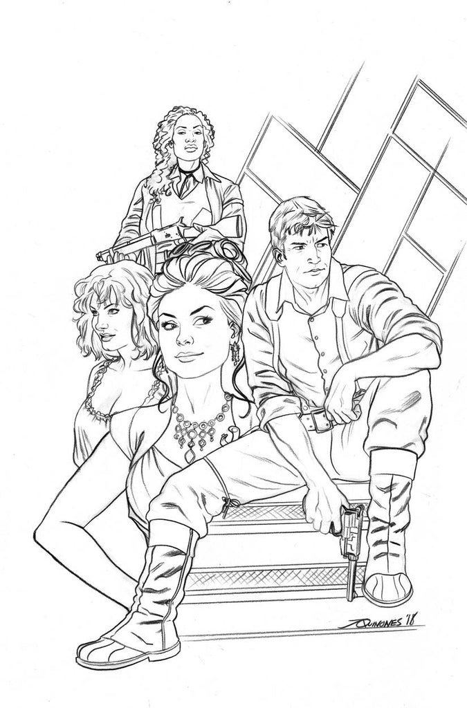 FIREFLY #1 1:25 QUINONES SKETCH VARIANT COVER