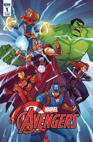 MARVEL ACTION AVENGERS #1 1:10 PITRE-DUROCHER VARIANT COVER