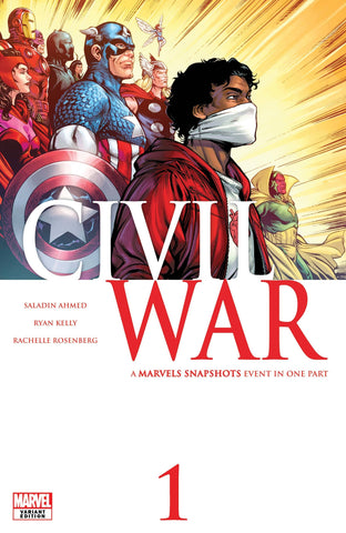CIVIL WAR MARVELS SNAPSHOTS #1 - Kelly Variant Cover - 1st Appearance of Helper