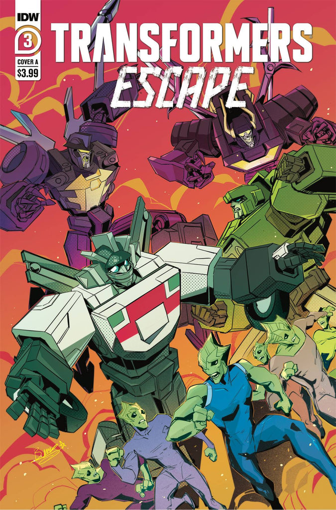 TRANSFORMERS ESCAPE #3 (OF 5) CVR A MCGUIRE-SMITH