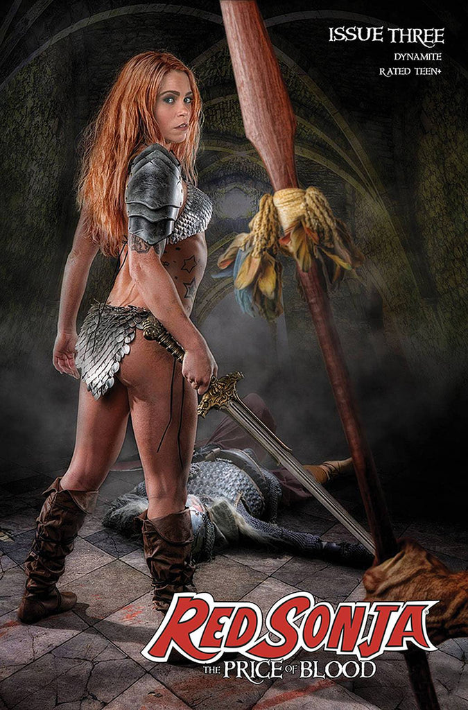 RED SONJA PRICE OF BLOOD #3 CVR E RAY COSPLAY