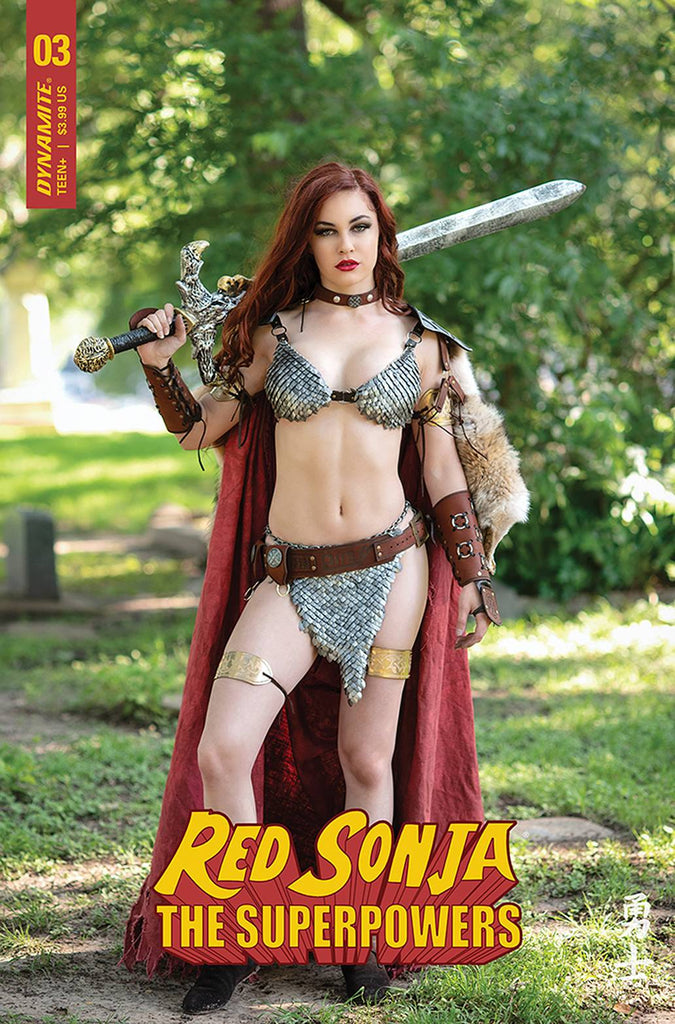 RED SONJA THE SUPERPOWERS #3 CVR E COSPLAY PRE-ORDER
