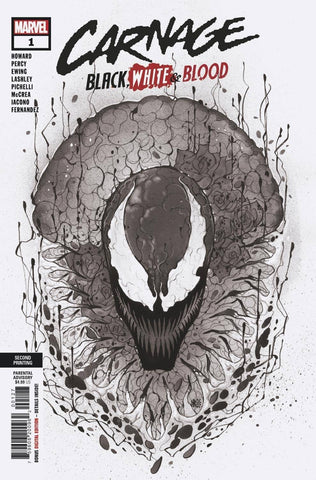 CARNAGE BLACK WHITE AND BLOOD #1 2ND PTG VAR PRE-ORDER