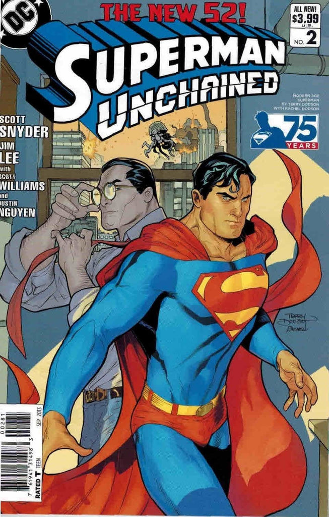 SUPERMAN UNCHAINED #2 75TH ANNIV VARIANT MODERN AGE