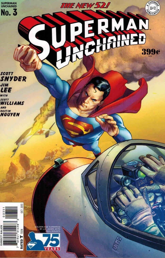 SUPERMAN UNCHAINED #3 75TH ANNIV VARIANT GOLDEN AGE