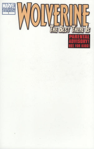 Wolverine The Best There Is #1 Blank Variant Cover