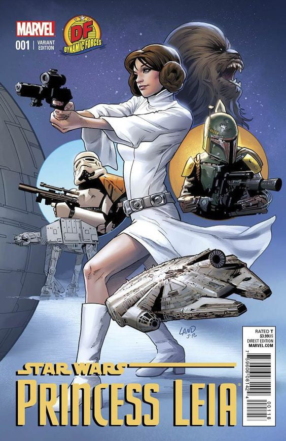 STAR WARS #1 DF EXCLUSIVE VARIANT SIGNED GREG LAND