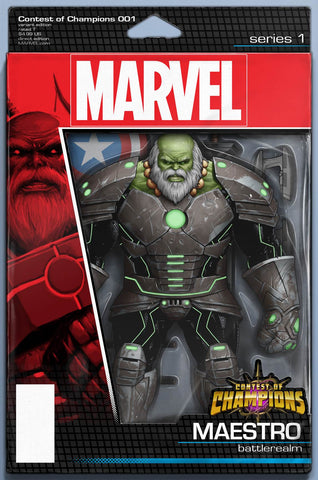 CONTEST OF CHAMPIONS #1 MAESTRO FIGURE VARIANT - 1st White Fox