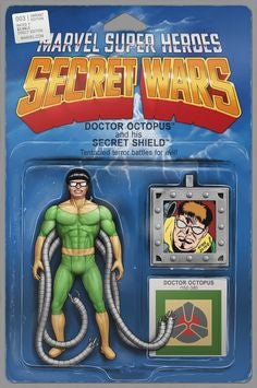 Secret Wars #3 Action Figure Variant Cover