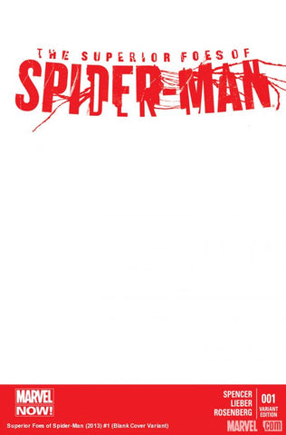 SUPERIOR FOES OF SPIDER-MAN #1 BLANK VARIANT