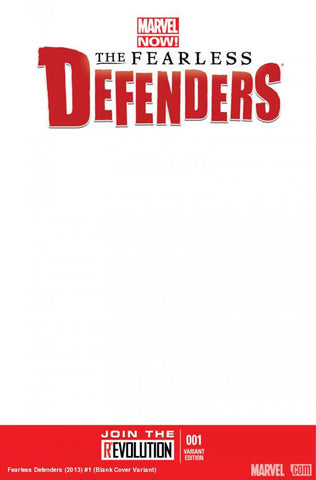 FEARLESS DEFENDERS #1 Blank Variant Cover
