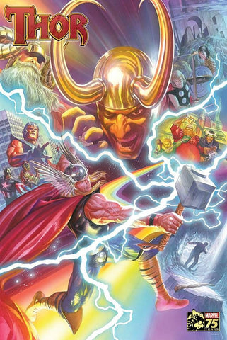 THOR 75TH ANNIVERSARY BY ALEX ROSS POSTER