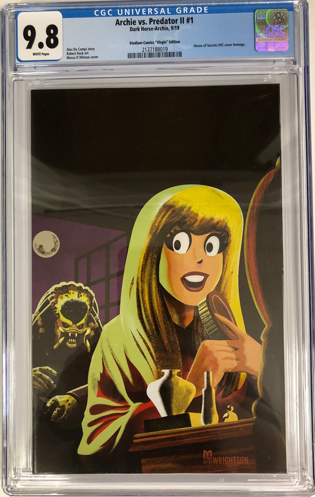 ARCHIE PREDATOR 2 #1 SWAMP THING HOMAGE VIRGIN VARIANT CGC 9.8