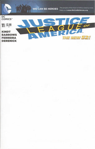 Justice League of America #11 Blank Variant Cover