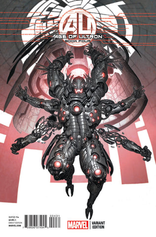 AGE OF ULTRON #4 1:25 HE KIM ULTRON VARIANT