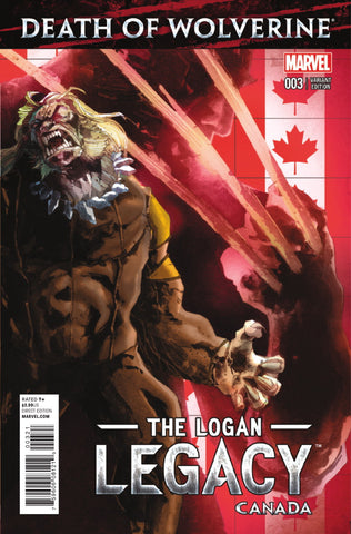 DEATH OF WOLVERINE LOGAN LEGACY #3 (OF 7) CANADA VARIANT
