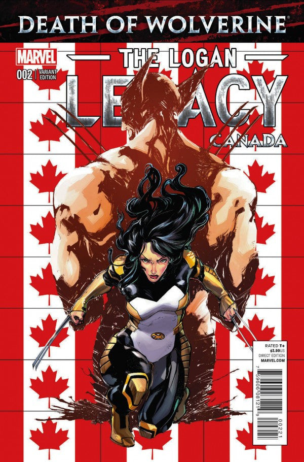 DEATH OF WOLVERINE LOGAN LEGACY #2 (OF 7) CANADA VARIANT