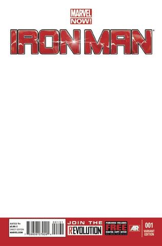 Iron Man #1 Blank Variant Cover