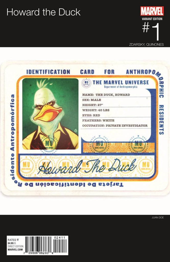 HOWARD THE DUCK #1 DOE HIP HOP VARIANT