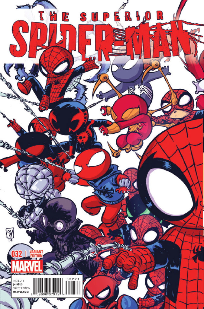 SUPERIOR SPIDER-MAN #32 SKOTTIE YOUNG INTERLOCKING A VARIANT EOSV