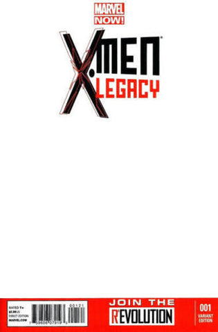 X-Men Legacy #1 Blank Variant Cover