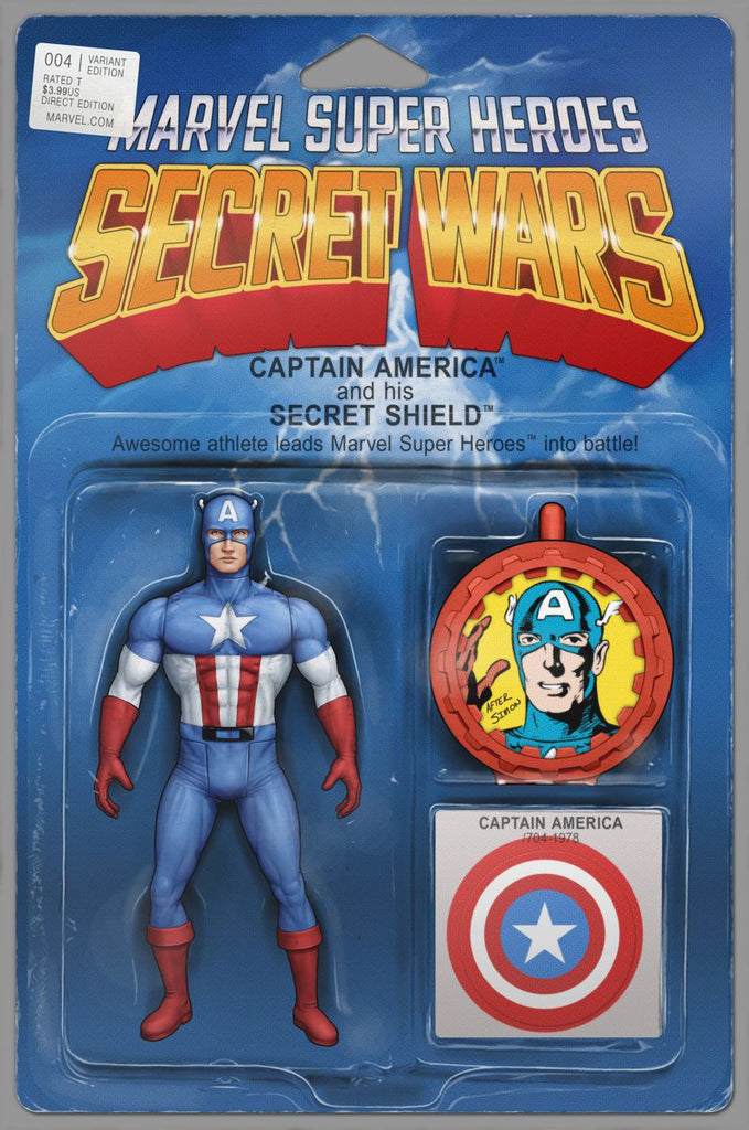 Secret Wars #4 Action Figure Variant Cover