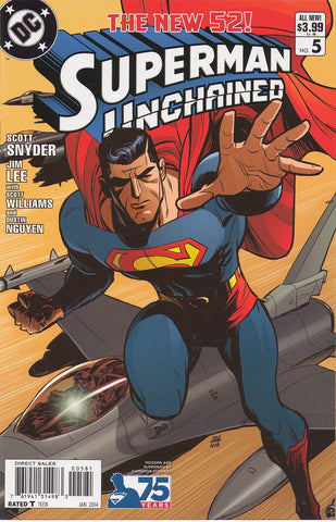 SUPERMAN UNCHAINED #5 75TH ANNIV VARIANT MODERN AGE