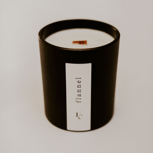 flannel soy candle pumpkin and persimmon winter solstice collection hand poured in los angeles gifts