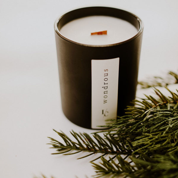 wondrous soy candle juniper fir and balsam spruce hand poured in los angeles gifts