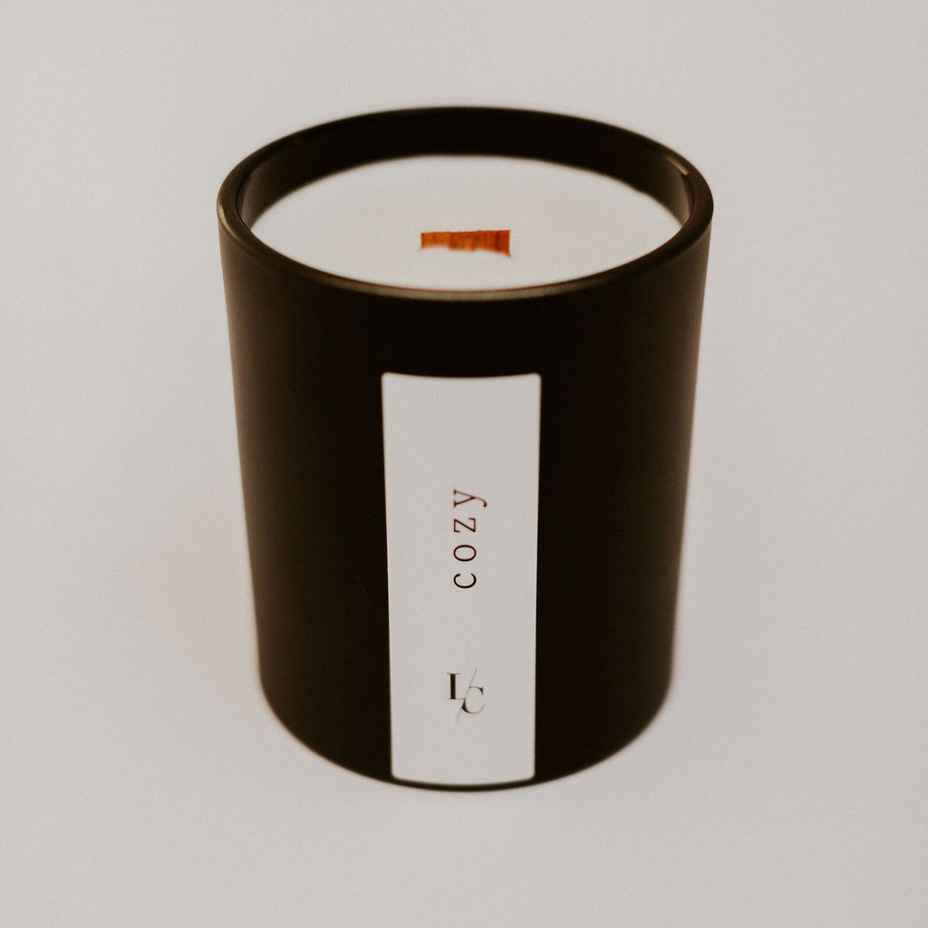 cozy soy candle roasted chestnuts and rum winter solstice collection hand poured in los angeles