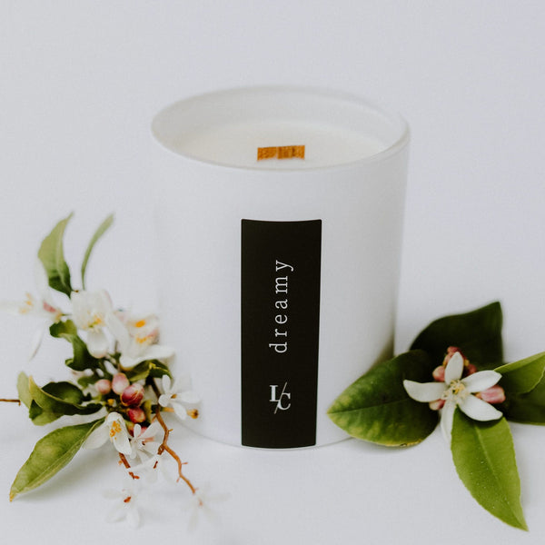 dreamy soy candle jasmine and neroli