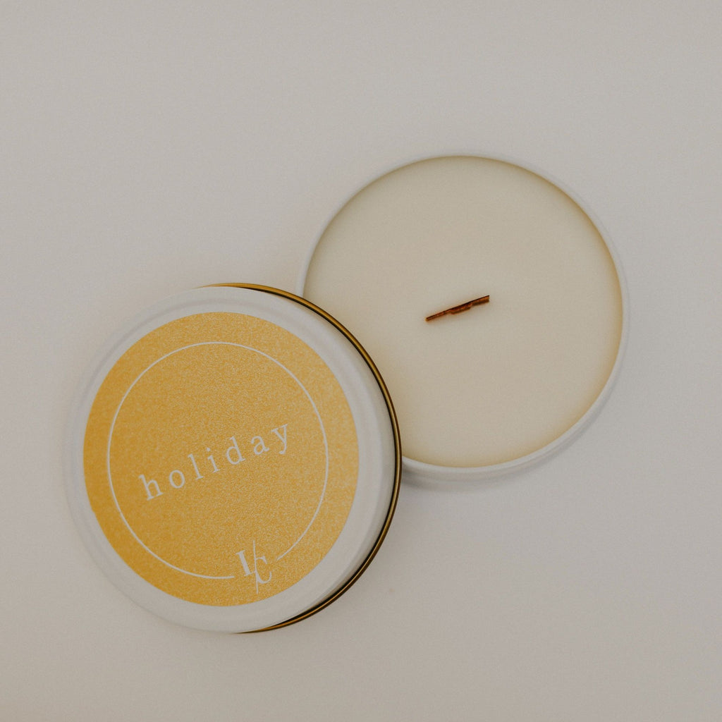 holiday travel candle maple chai and sweet cream soy candle hand poured in los angeles gifts