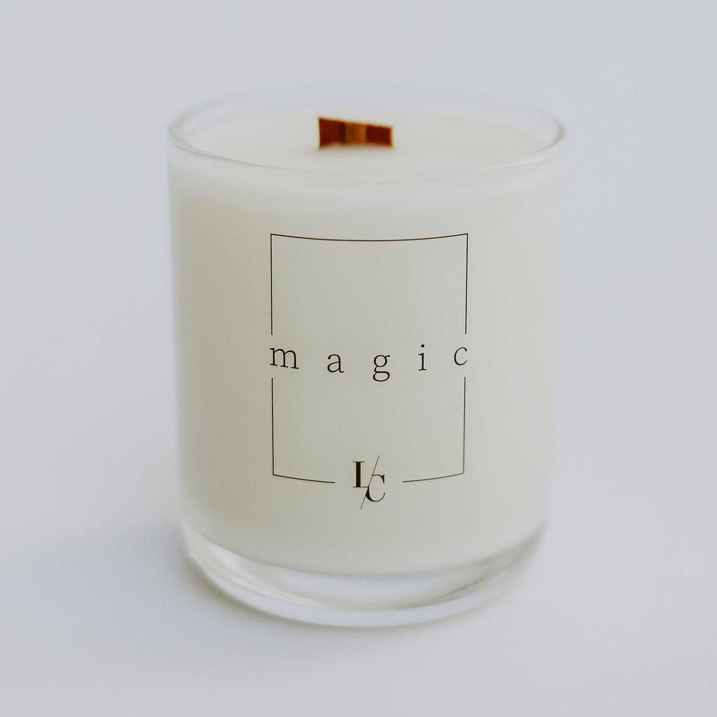 magic soy candle sandalwood and smoke hand poured los angeles standard collection
