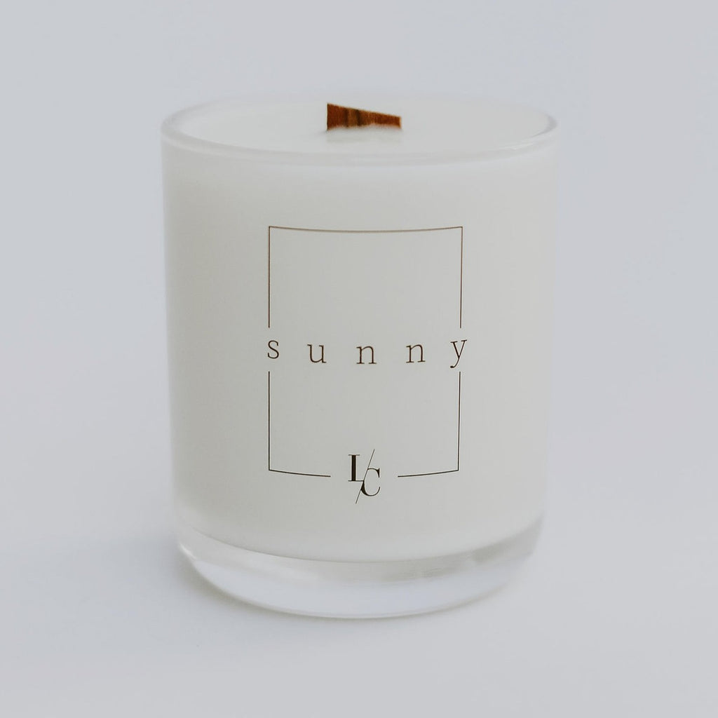 sunny salt air honeydew soy candle los angeles