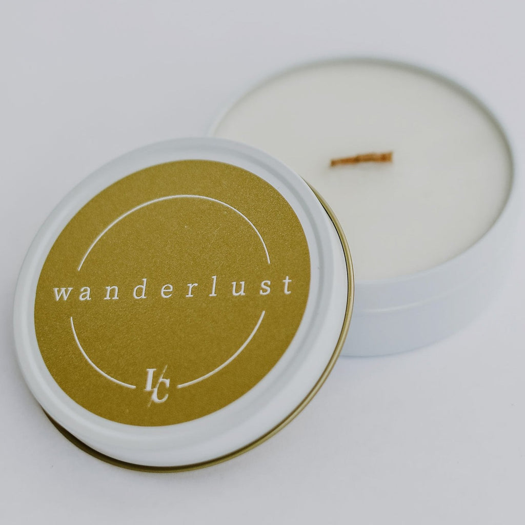 cashmere and vanilla wanderlust soy travel candle