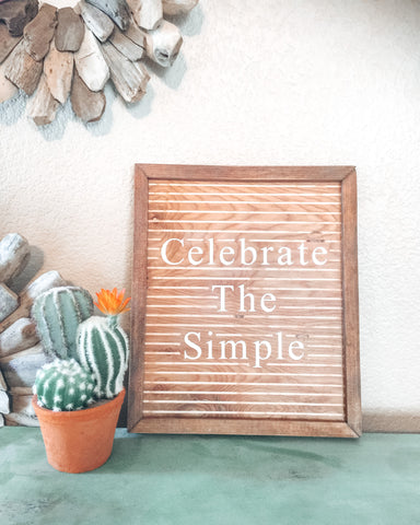 A hand crafted and hand carved boho style wood sign to promote self love