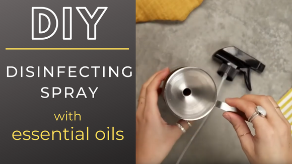 How to make a Disinfecting Spray with essential oils