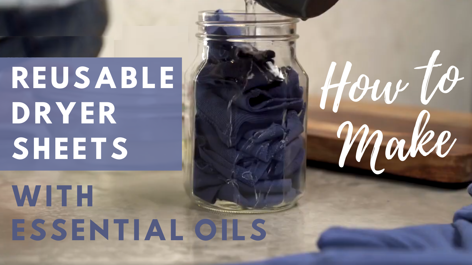 How to make reusable dryer sheets with essential oils