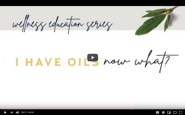 Class 1: I have my oils, now what?