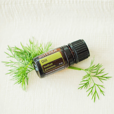 doTERRA Dill Oil on Plate
