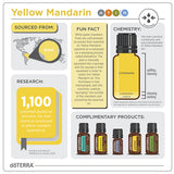 doTERRA Yellow Mandarin Essential Oil Infographic