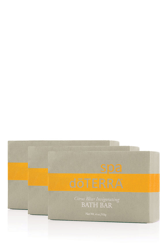 doTERRA SPA Citrus Bliss Invigorating Bath Bar - 3 Pack - doTERRA