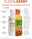 Slim & Sassy Softgels Infographic