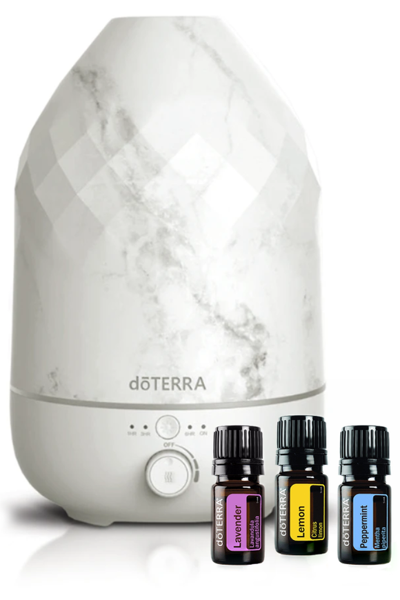 dōTERRA Volo Marble Diffuser with Trio Collection