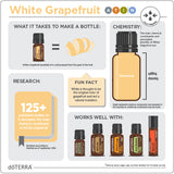 doTERRA White Grapefruit Essential Oil Infographic
