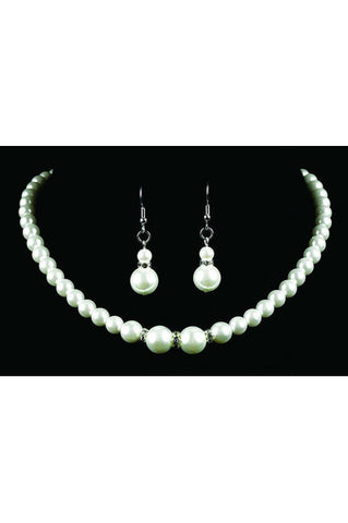Strung Pearl & Diamond set