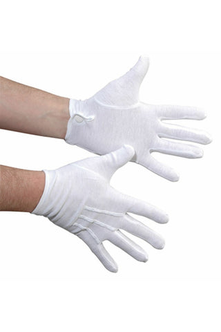 Cotton Military Glove with Snap Closure
